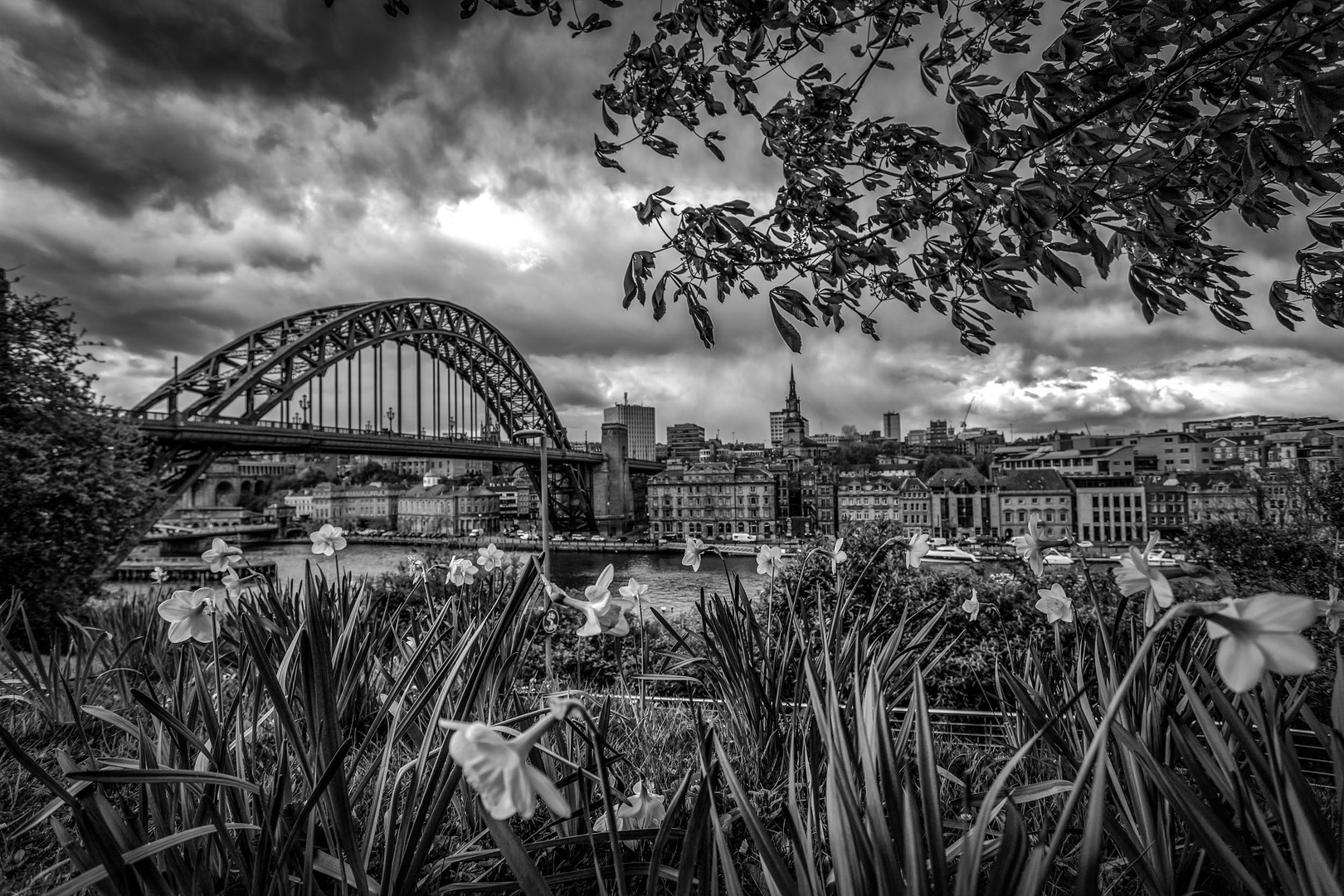 Newcastle B&W landscape