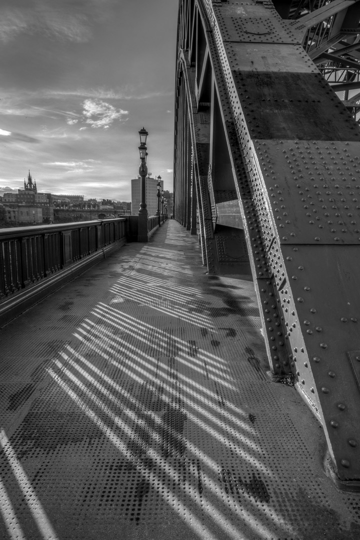 Tyne bridge shadows