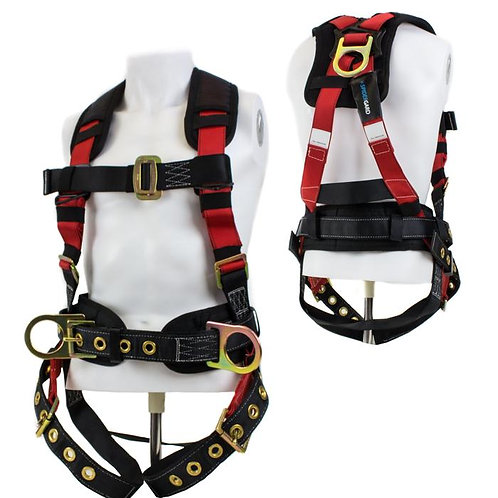 Spidergard 3 D-Ring Construction Harness with Back Support and Tongue Leg Strap