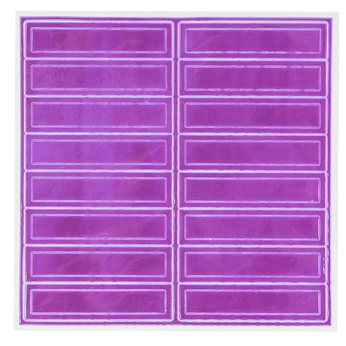 Adhesive Reflective Hard Hat/Helmet Stickers (Purple)