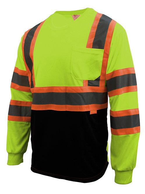 Hi-Viz Class 2 Reflective Strips Mesh Vest, Pockets, Harness D-Ring Pass Thru