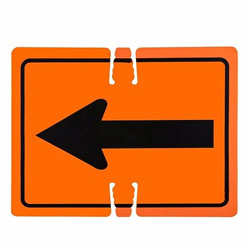 """18""""w x 14""""h Traffic Cone Sign """"Arrow"""" Black on Orange"""