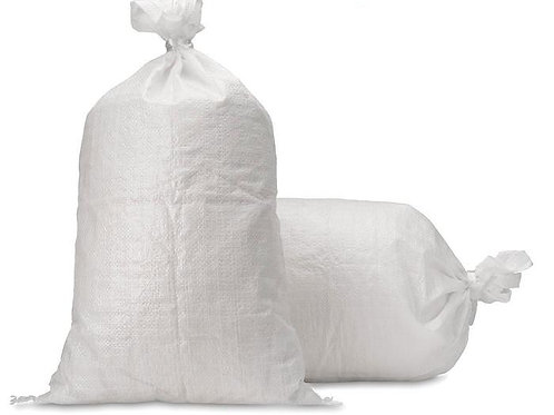 "Empty Woven Polypropylene Sand Bags with Built-in Ties 17"" x 27"""
