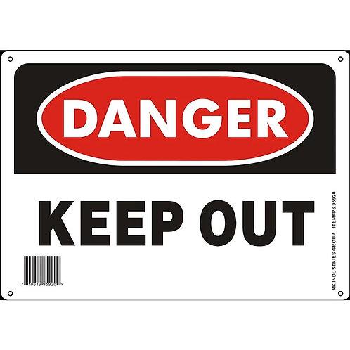 """OSHA Safety Sign, Legend """"Danger Keep Out"""""""