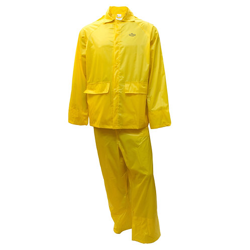 PVC Polyester 3-Piece Rain Suit - Yellow