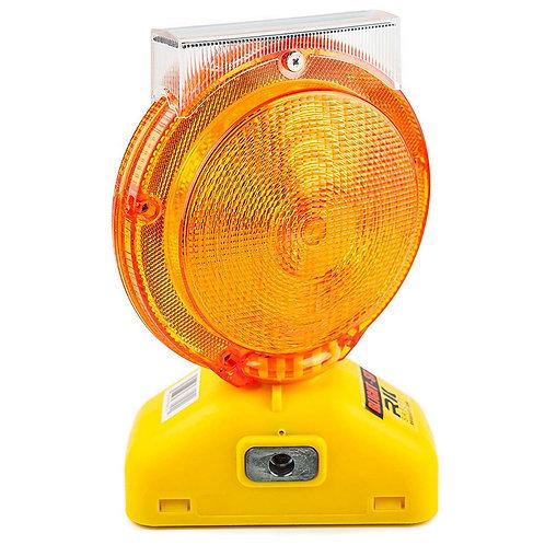 Rechargable Solar Barricade Amber LED Warning Light