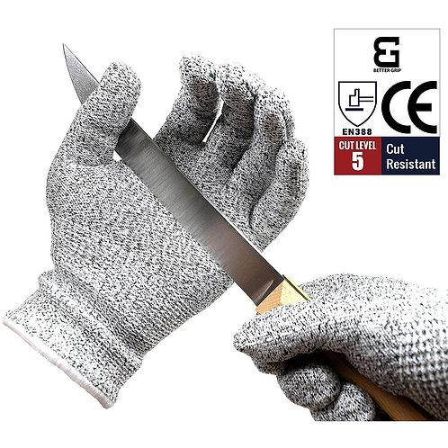 Level 5 Cut Resistant Shell Work Gloves Food Grade EN388 Certified