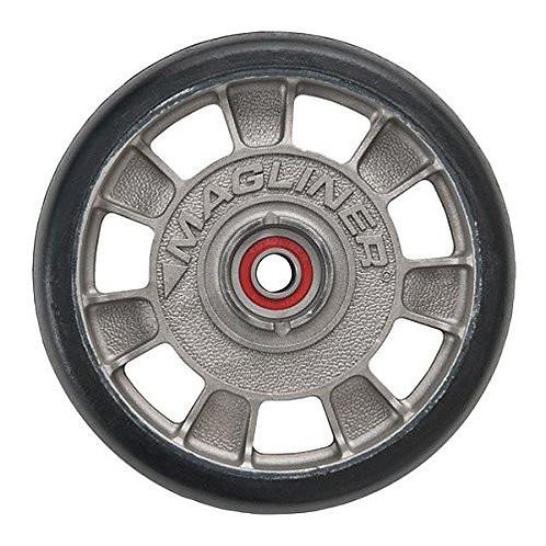 "Magline 8"" Diameter Mold on Rubber Wheel with Red Sealed Semi Precesion Bearings"