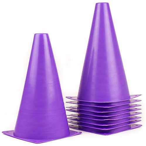 Sports Plastic Sport Cones - Purple
