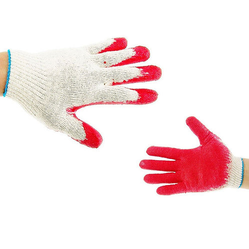 Better Grip String Knit Red Palm Latex Dipped Glove