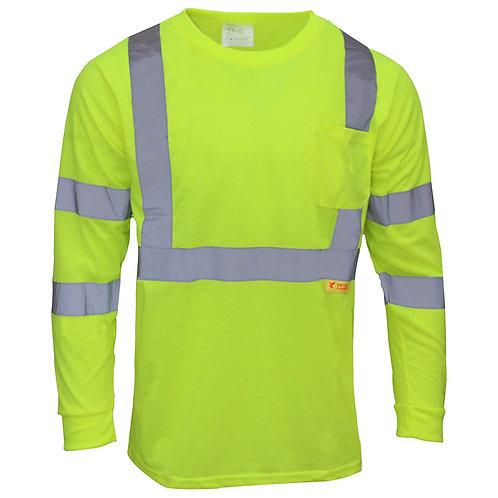 Hi Viz Safety T-Shirts Long Sleeve