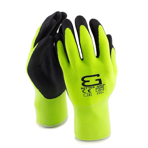 Better Grip Flex Micro Foam Nitrile Coated Nylon Work Gloves for Smart Phones