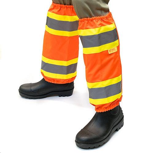 Hi-Viz Contrasting Trim Leg Gaiters Polyester oxford w/ PU Coating  - Orange