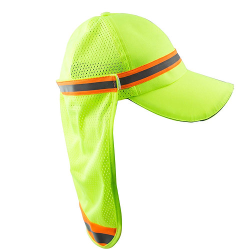 Hi-Viz Workwear High Performance Hat/ Cap with Neck Shade