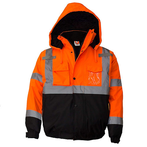Hi-Viz Workwear Bomber Safety Jacket, Waterproof