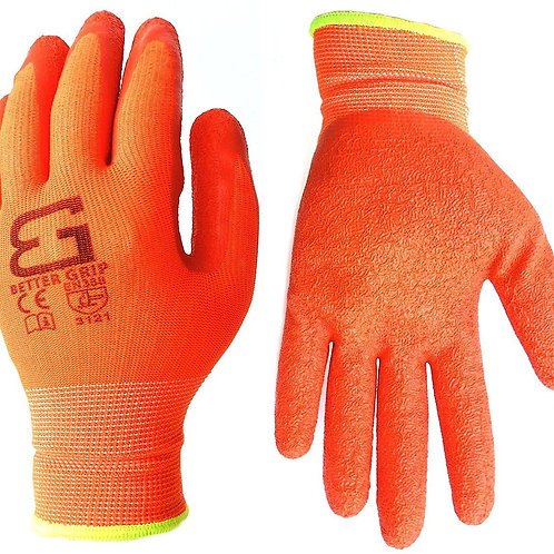 Better Grip Nylon Gloves Textured Latex Coating Gripping