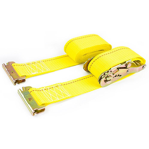 "2"" x 12 ft Durable Yellow Ratchet Strap"