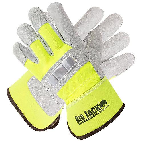 Better Grip Hi-Viz Cowide Leather Palm Gloves