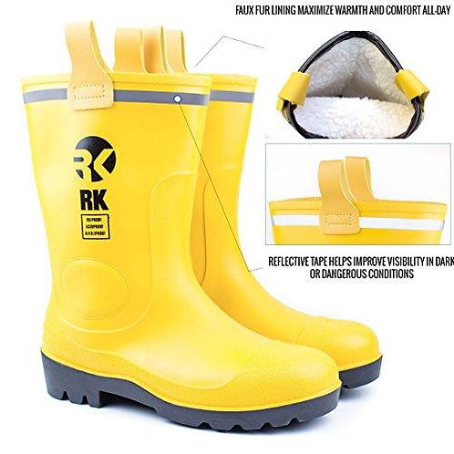 Insulated Waterproof Interior Rubber Sole Winter/Rain Boots Yellow