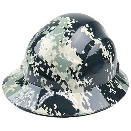 Brim Style Hard Hat with 4 Point Patchet Suspension (Camo Design)