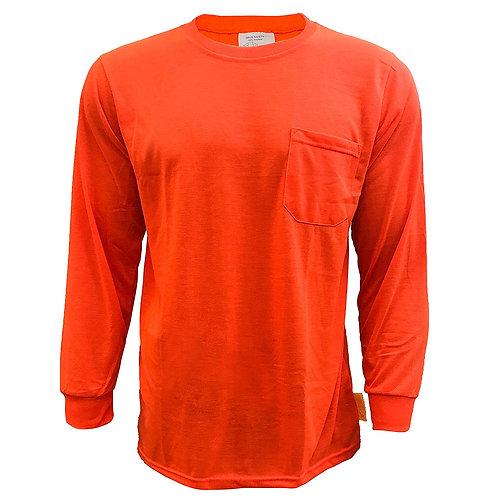 Hi-Viz Workwear Long Sleeve Force Color Enhanced Safety Shirt