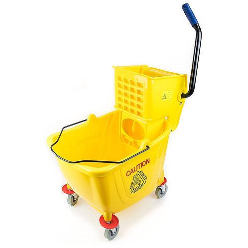 Commercial Side Press Wringer Mop Bucket 36 qt