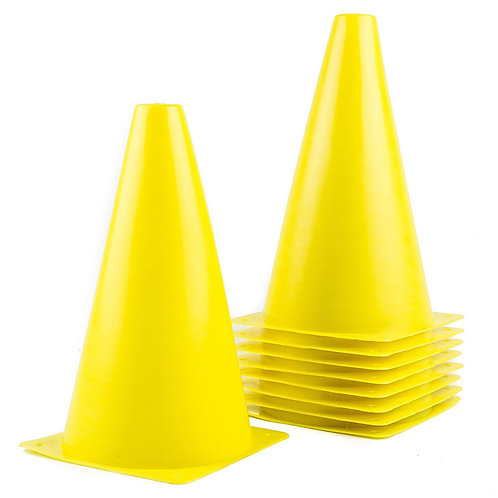 Sports Plastic Sport Cones -Yellow