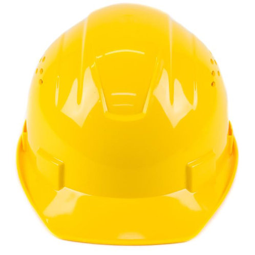 Cap Style Hard Hat with 4 Point Ratchet Suspension (Yellow)
