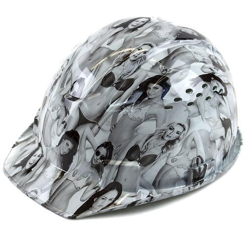 Cap Style Hard Hat with 4 Point Ratchet Suspension (Ladies Design)