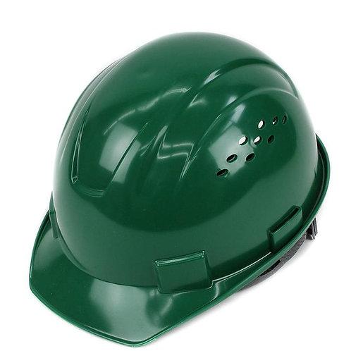 Cap Style Hard Hat with 4 Point Ratchet Suspension (Dark Green)