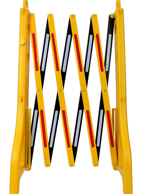 """Expandable Barricade Safety Barrier Gate 38"""" h x 8' - 2"""" max width"""