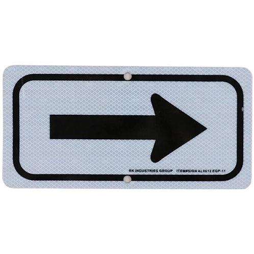 """12""""h x 6""""w Arrow Aluminum Sign"""
