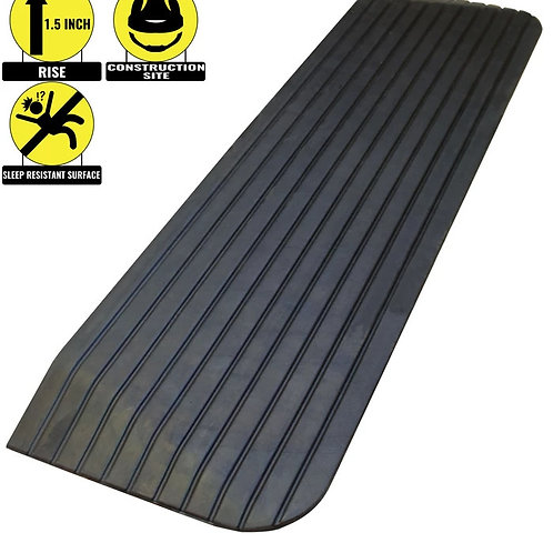 """1.5"""" Rise Solid Rubber Power Wheelchair Scooter Threshold Ramp"""