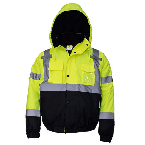Hi-Viz Workwear Bomber Safety Jacket, Waterproof