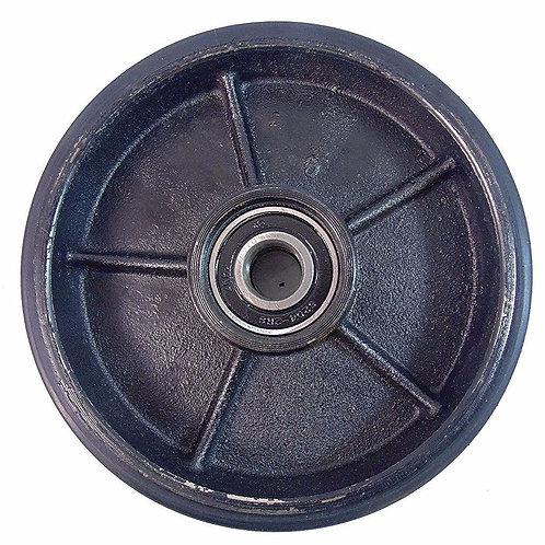 """Pallet Jack Steer PU Wheel - 7"""" Diameter x 2"""" Wide 20 mm ID"""
