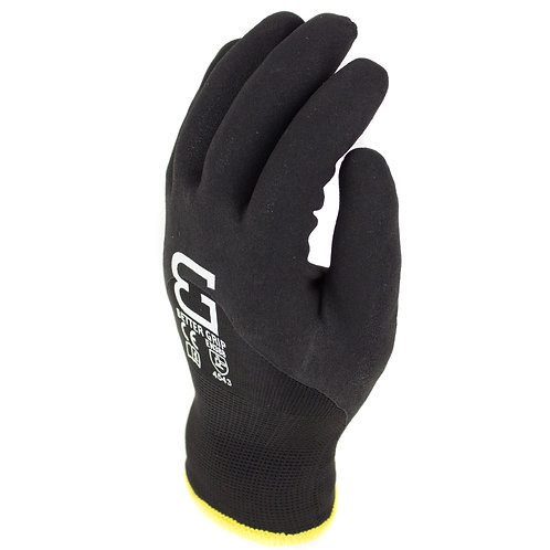 Winter Insulated Double Lining Rubber Latex 3/4 Coated Work Gloves
