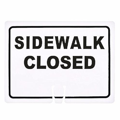 """18""""w x 14""""h Traffic Cone Sign """"Sidewalk Closed"""" Black on White"""