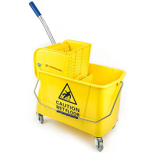 Commercial Side Press Wringer Mop Bucket 24 qt