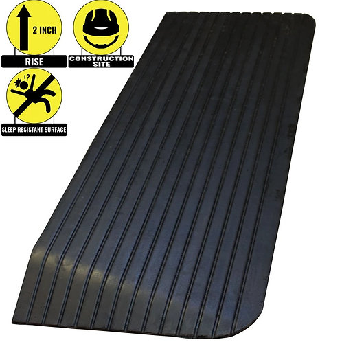 """2"""" Rise Solid Rubber Power Wheelchair Scooter Threshold Ramp"""