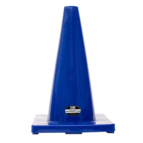 "18"" PVC Traffic Safety Cones, Plain - Blue"
