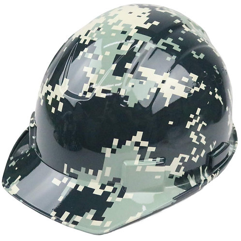 Cap Style Hard Hat with 4 Point Ratchet Suspension (Camo Design)
