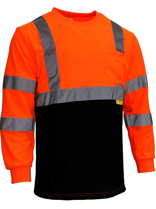 Hi-Viz Class 3 Long Sleeve T Shirt with Moisture Wicking Mesh