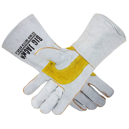 Leather Welding Gloves with Premium Kevlar Stitching