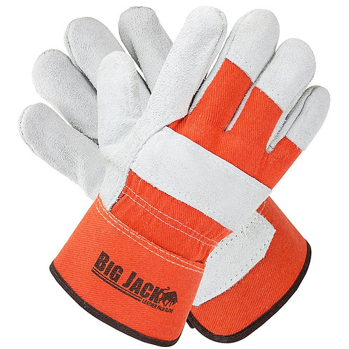 Better Grip Cowide Leather Palm Gloves with Rubberized Safety Cuff