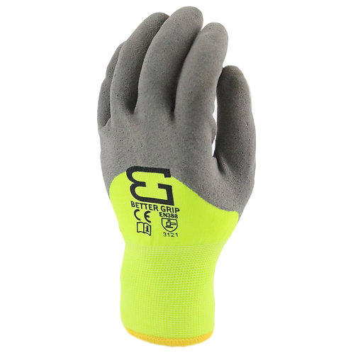 Better Grip Safety Winter Insulated Double Lining Rubber Latex Work Gloves