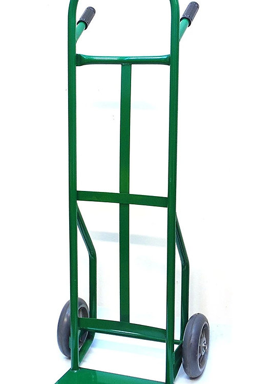 """Steel Dual Handle Hand Truck with 8"""" flat free TPR Wheels"""