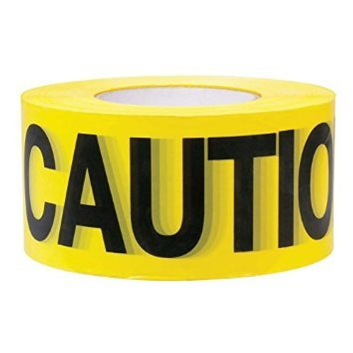 High-Visibility 1000-Feet by 3-Inch Caution Barricade Tape, Yellow