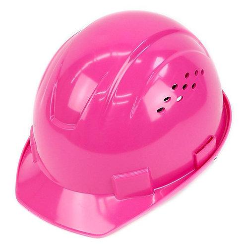 Cap Style Hard Hat with 4 Point Ratchet Suspension (Hi-Viz Pink)