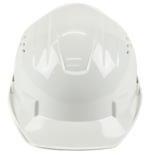 Cap Style Hard Hat with 4 Point Ratchet Suspension (White)