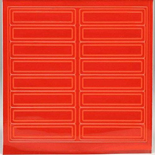 Adhesive Reflective Hard Hat/Helmet Stickers (Orange)